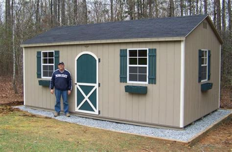 Gravel Foundation Recommended for the Storage Sheds