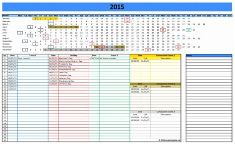 excel 2014 calendar templates 7 monthly calendar excel template 2014 exceltemplates