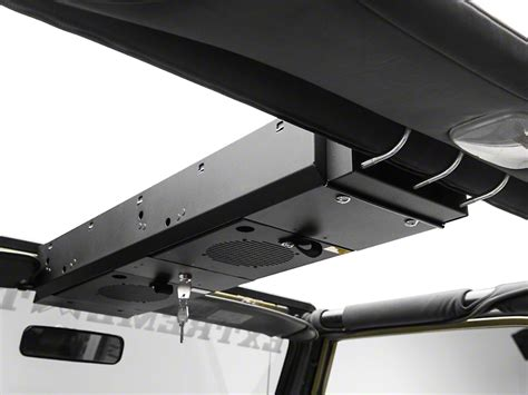 jeep wrangler overhead storage tuffy wrangler overhead security console 2 compartment