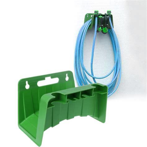 wall mounted garden hose pipe hanger holder storage