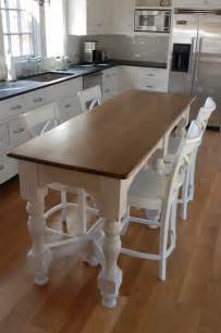 table as kitchen island island bench kitchen table kitchen design ideas