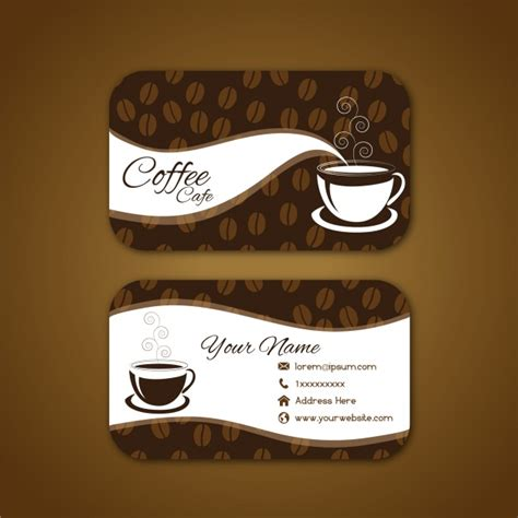 Coffee Business Card Template Free