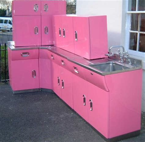 Antique Metal Kitchen Cabinets Vintage English Rose Metal Kitchen Cabinets From