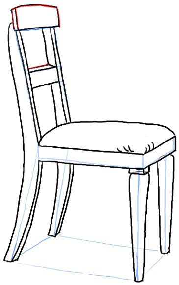 stuhl zeichnung how to draw a chair in the correct perspective with easy