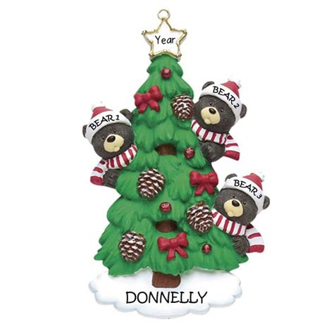 bear tree 3 christmas ornament personalised 5 3 12 95
