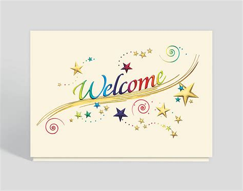 welcome card template rainbow welcome card 300572 business cards