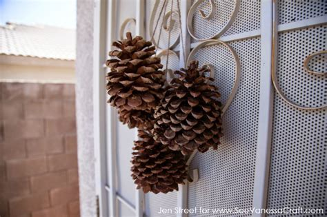 craft tutorial pine cone door decor see craft
