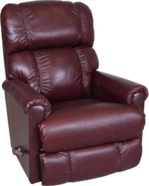 la z boy leather burgundy rocker recliner