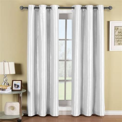 42 inch curtains soho white grommet blackout window curtain panel solid