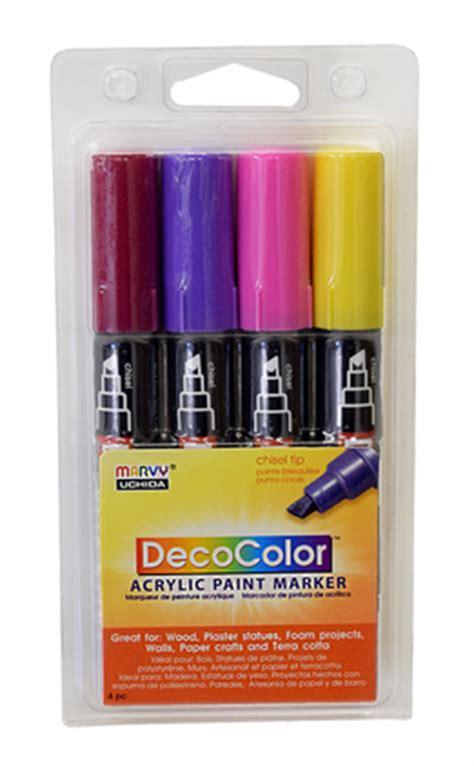 deco acrylic paint set decocolor acrylic paint marker bright set of 4