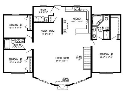 one story log home floor plans modular homes with open floor plans log cabin modular