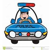 Homme Dans La Voiture Police Photographie Stock Libre De