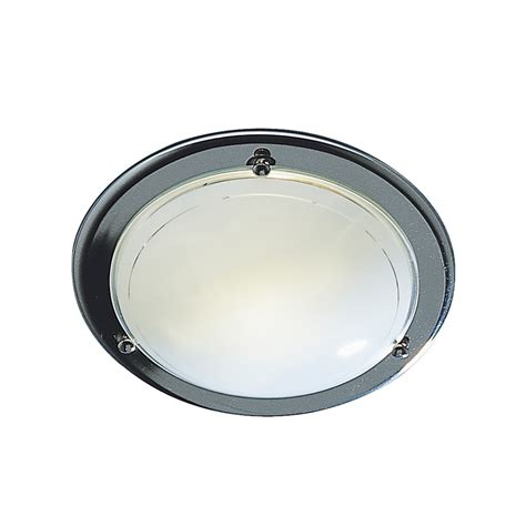 dar dis5250 disc 1 light small chrome flush fitting