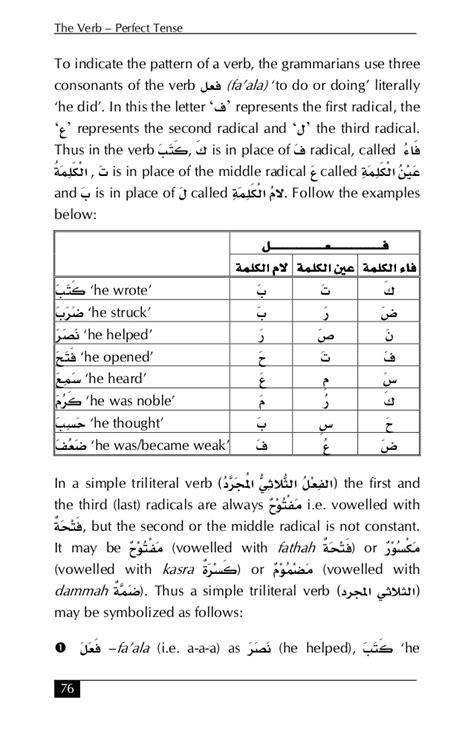verb pattern arabic essentials of arabic grammar essentials of arabic grammar