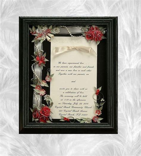 framing wedding invitations framed wedding invitation wedding shadow box wedding gift