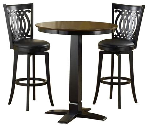 Indoor Bistro Table Set Hillsdale Dynamic Designs 5 Pub Table And Stools Set Transitional Indoor Pub And
