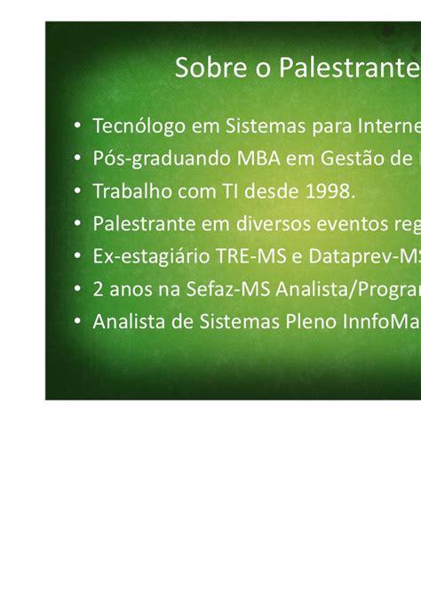 Mba Gestão De Ti by Palestra Tv Digital Interativa Dourados