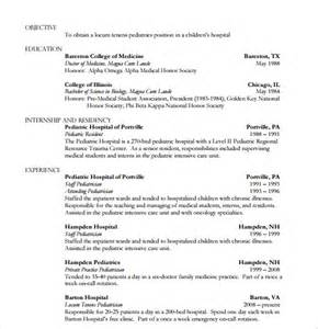15 doctor resume templates free sles exles