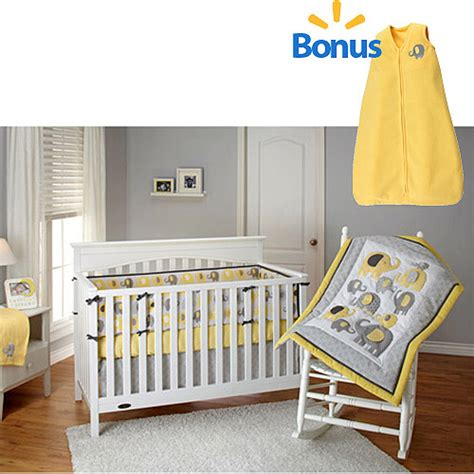 Yellow Elephant Crib Bedding Bedding By Nojo Yellow Elephant Time 4 Crib Bedding Set W Bonus Wearable Blanket