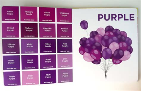 names of purple pantone colors design of the picture book