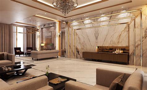 luxury modern villa qatar  behance   interior