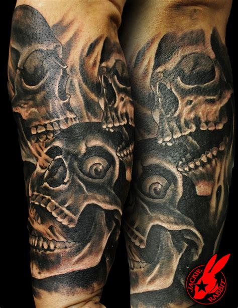 skulls and smoke tattoo sleeve interior home design