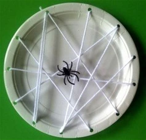 Paper Spider Craft - paper plate spider web craft