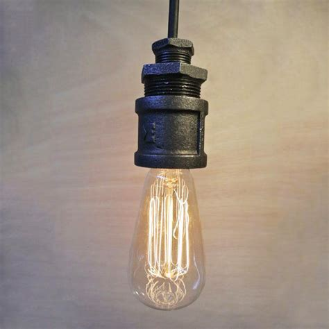 loft single iron water pipe ceiling light tudo and co
