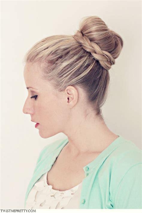 Ballerina Hairstyles by A Braided Ballerina Bun Hair Tutorial Hairstyles I