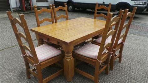 Dining Table And Chairs Belfast Farmhouse Style Pine Chunky Table And Chairs Dunmurry Belfast Gumtree Table Refurb