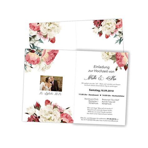Hochzeit Bestellen by Hochzeitseinladungen Mit Aquarell Blumenmotiv Bestellen