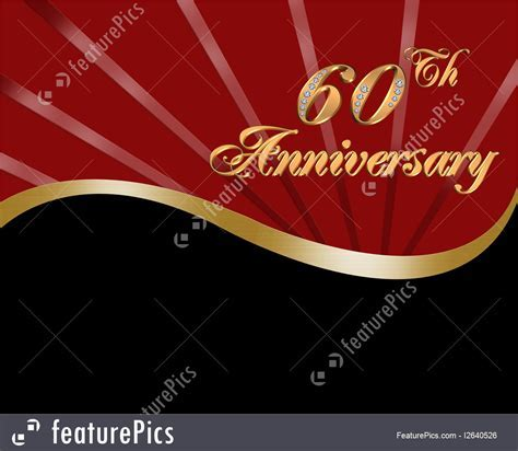Cards And Posters: 60Th Wedding Anniversary   Stock