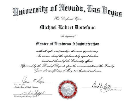 Mba Accounting Unlv mike distefano