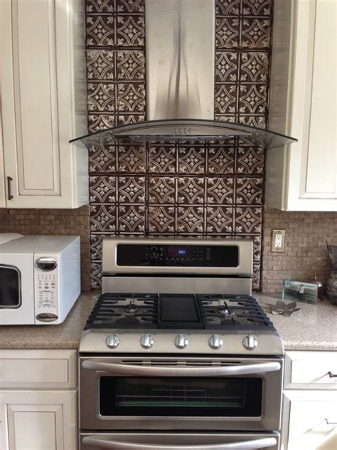 kitchen tin backsplash dramatic tin backsplash contemporary kitchen ta by american tin ceilings