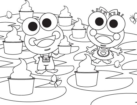 Sweet Frog Coloring Page | free coloring pages of sweetfrog