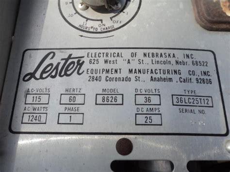 lester golf cart charger parts find 36 volt golf cart charger lester matic equipment 115