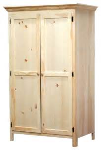 Unfinished Wardrobe Armoire by Panel Door Wardrobe Unfinished Wardrobes