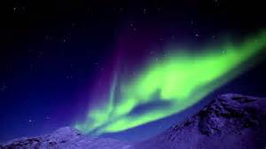 lights in northern lights in greenland
