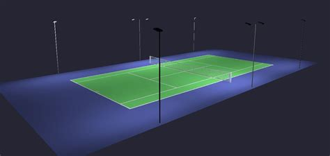 Outdoor Tennis Court Lighting Outdoor Tennis Court Led Lighting Pole Package 6 Poles 8 Fixtures