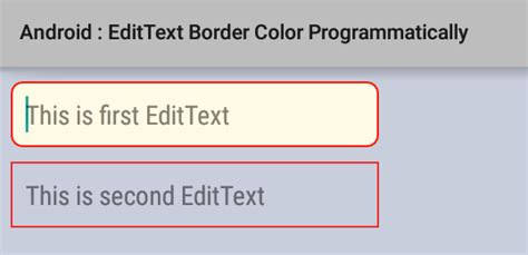Android Edittext Layout Weight Programmatically | how to set edittext border color programmatically in android