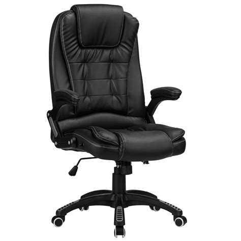 reclining highchairs raygar luxury faux leather high back reclining office