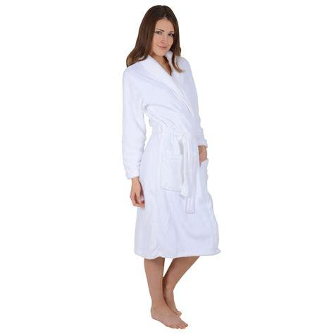 bathroom robes womens soft coral fleece bath robe dressing gown white