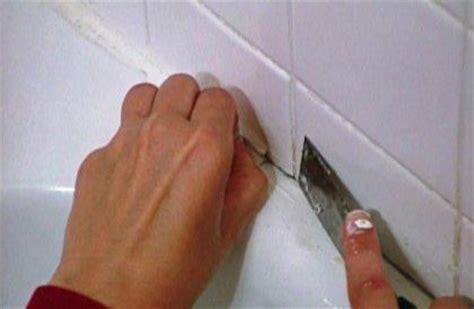 remove silicone caulk  tile tile design ideas