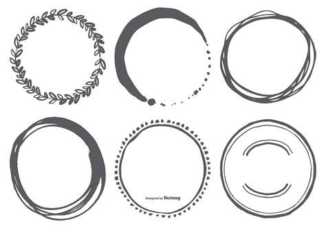 hand drawn circle vector shapes   vector art
