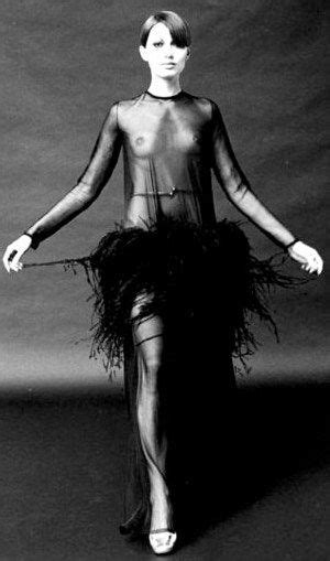 Haute Historian From To Laurent The New Look And The New New Look Second City Style Fashion by Black Sheer Dress With Ostrich Feathers Yves
