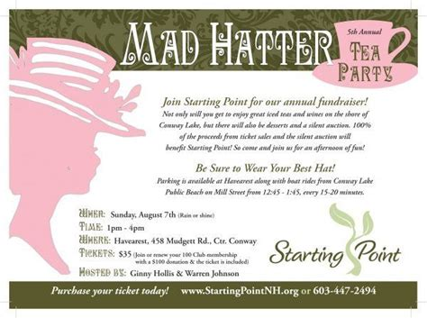 charity concert invitation letter mad hatter tea invitation charity fundraiser mad