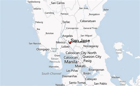 san jose philippines map san jose philippines central luzon location guide