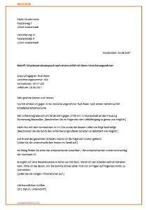 Musterbrief Widerspruch Krankenkasse Kostenübernahme Musterbrief F 252 R Die Versicherung Zur Schadensregulierung