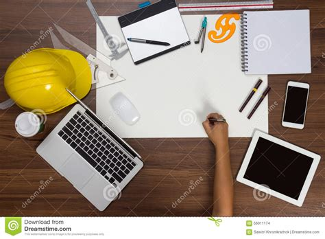 Office Desk Wallpaper Office Desk Background With Pen Writing Project Stock
