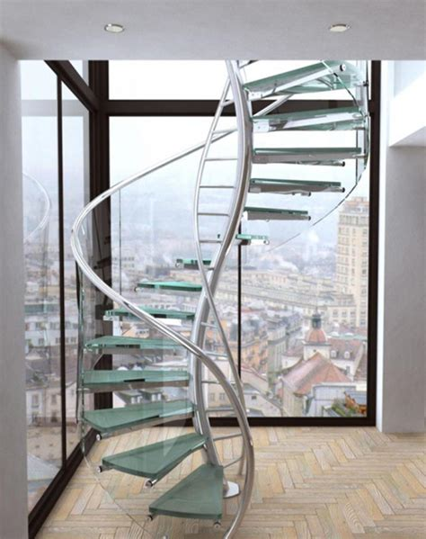 Spiral Staircase Design General Unique Spiral Staircase Design Inspiration With Stainless Steel Railing And Glass Steps